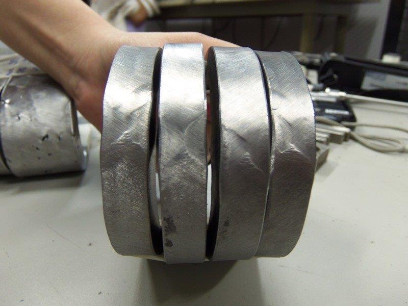 Ensaio de tração e dobramento